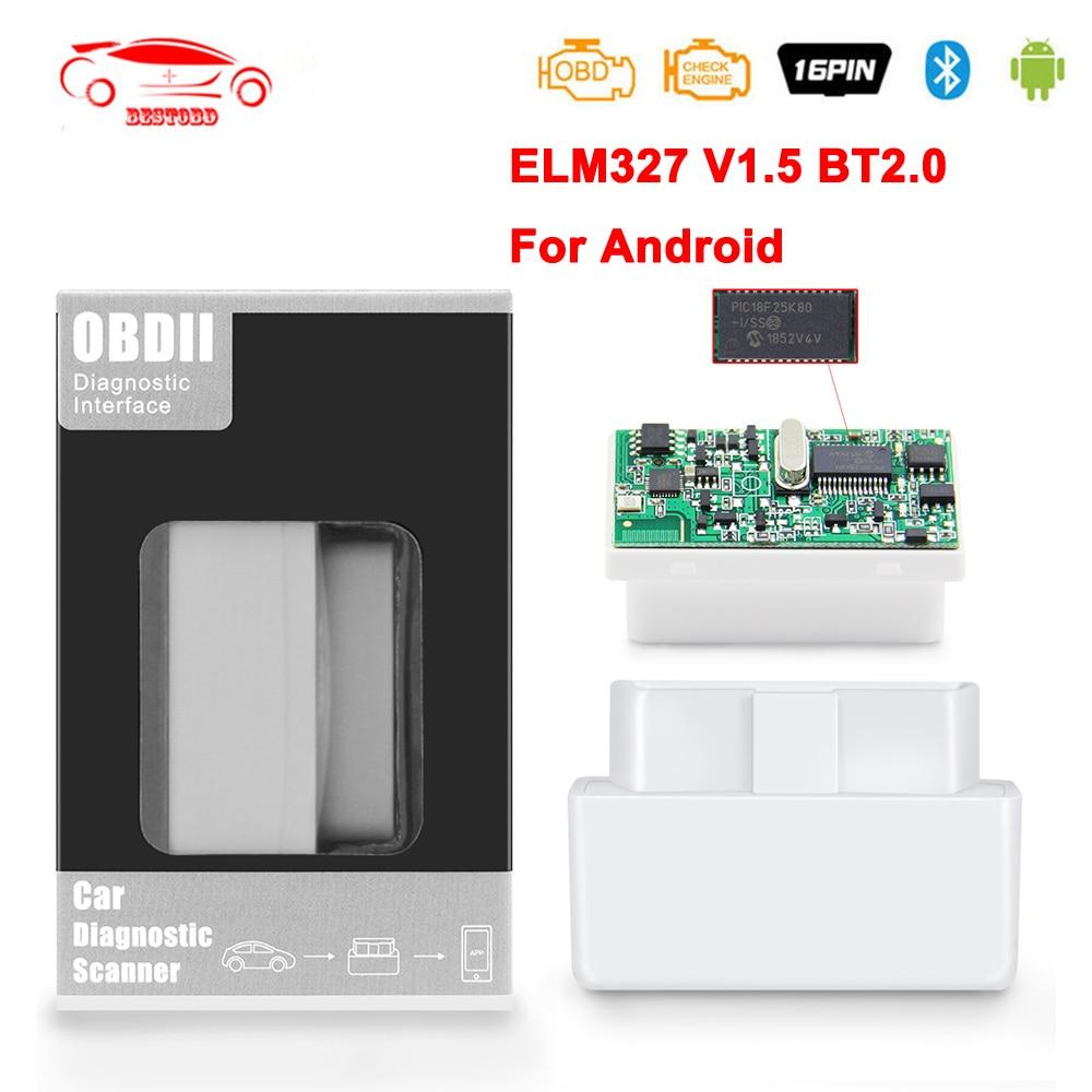 Мини-сканер ELM327 V1.5 PIC18F25K80 OBD 2 OBD2 elm 327 в 1 5 для Android Bluetooth Автомобильный диагностический OBD2 сканер Инструменты ODB2 считыватель кодов