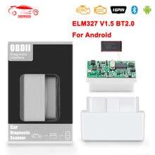 Mini elm327 v1.5 pic18f25k80 obd 2 obd2 elm 327 v 1 5 para android bluetooth carro diagnóstico obd2 scanner ferramentas odb2 leitor de código