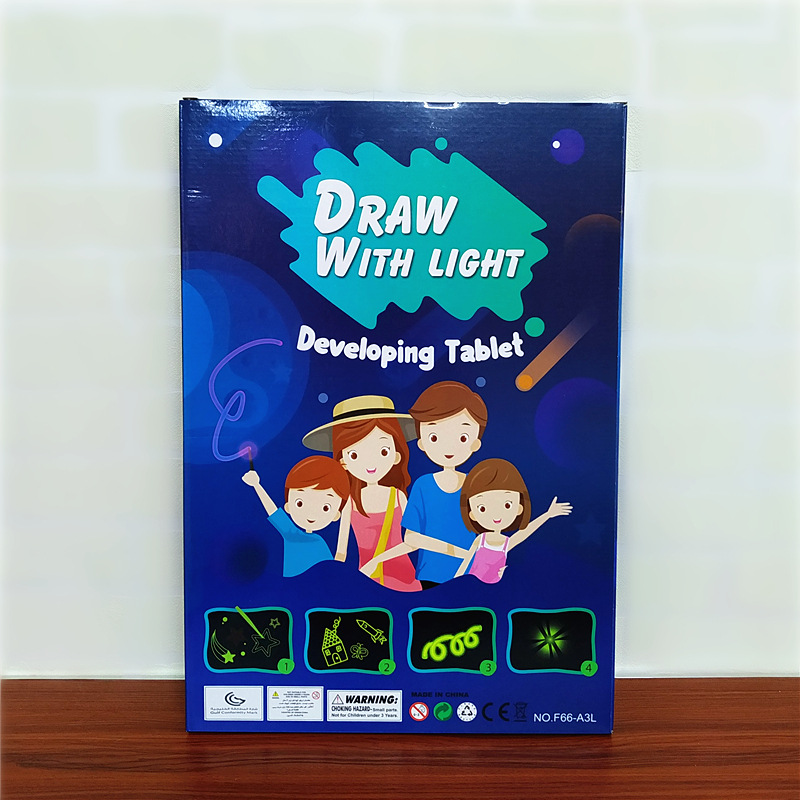 English Fluorescent Writing Board Electronic Shining Night Light Children CHILDREN'S White Light Drawing Board Hot Selling