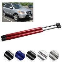 Dla Hyundai Santa Fe 2007 2012 z włókna węglowego klapy tylne siłowniki pneumatyczne amortyzator wstrząsów ramię drążka samochodu wsporniki podnośników 450 mm w Rozpórki od Samochody i motocykle na