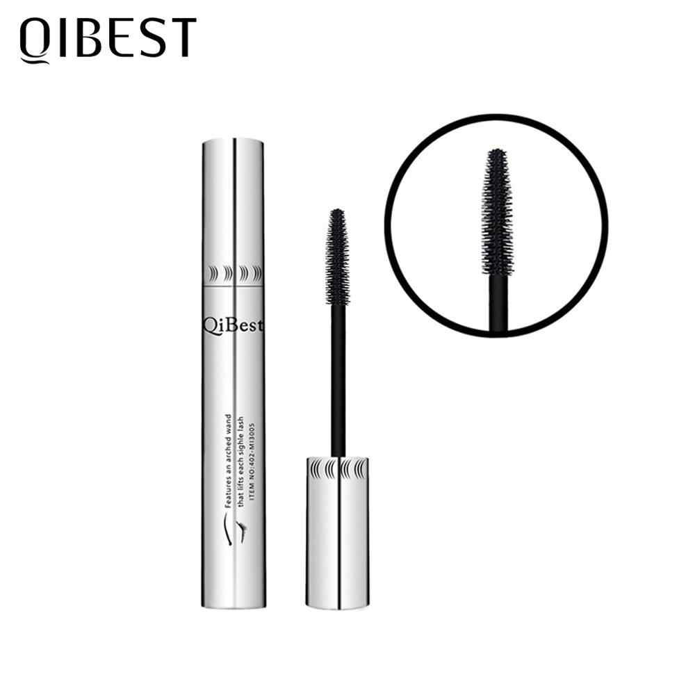 Qibestのメイクアップ黒マスカラ 4Dカーリング厚いマスカラボリュームまつげ防水延長マスカラ化粧品