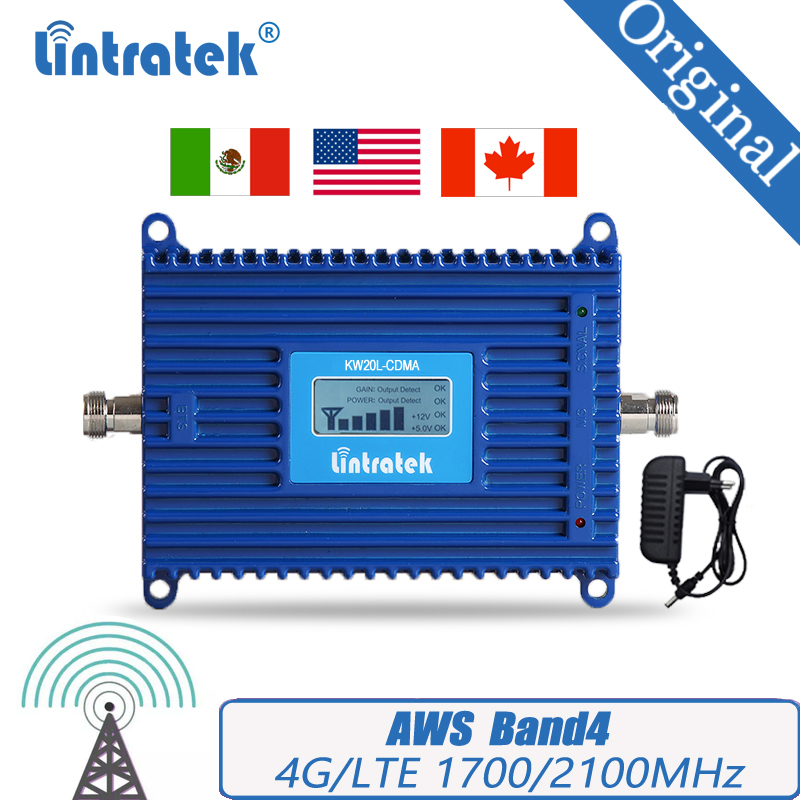 Lintratek 4G Signal Booster 1700/21000 Repeater LTE Amplifier AWS Band 4 Mobile Signal Booster #50