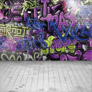 Laeacco граффити кирпичная стена Фотофон для детской фотосъемки гранж ПОРТРЕТНАЯ ФОТОГРАФИЯ фоны для фотостудии