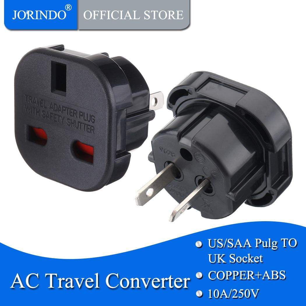 JORINDO US TO UK,Universal Travel AC Power Socket UK To US AU Plug Adapter Converter Black White Electrical Plug Adaptor
