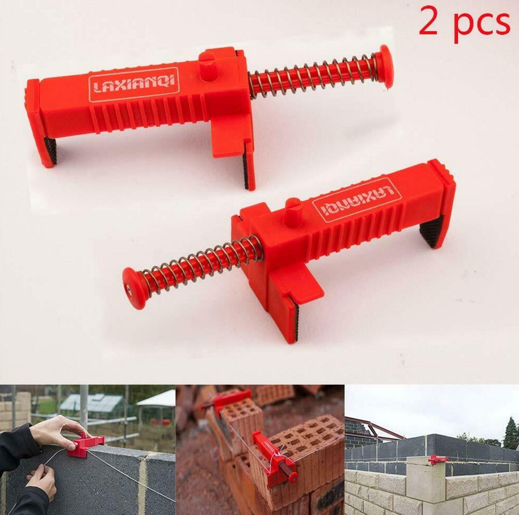 40^Brick Liner Wall Builder Building Wire Frame Brick Liner Runner Wire Drawer Bricklaying Tool Fixer For Building Construction