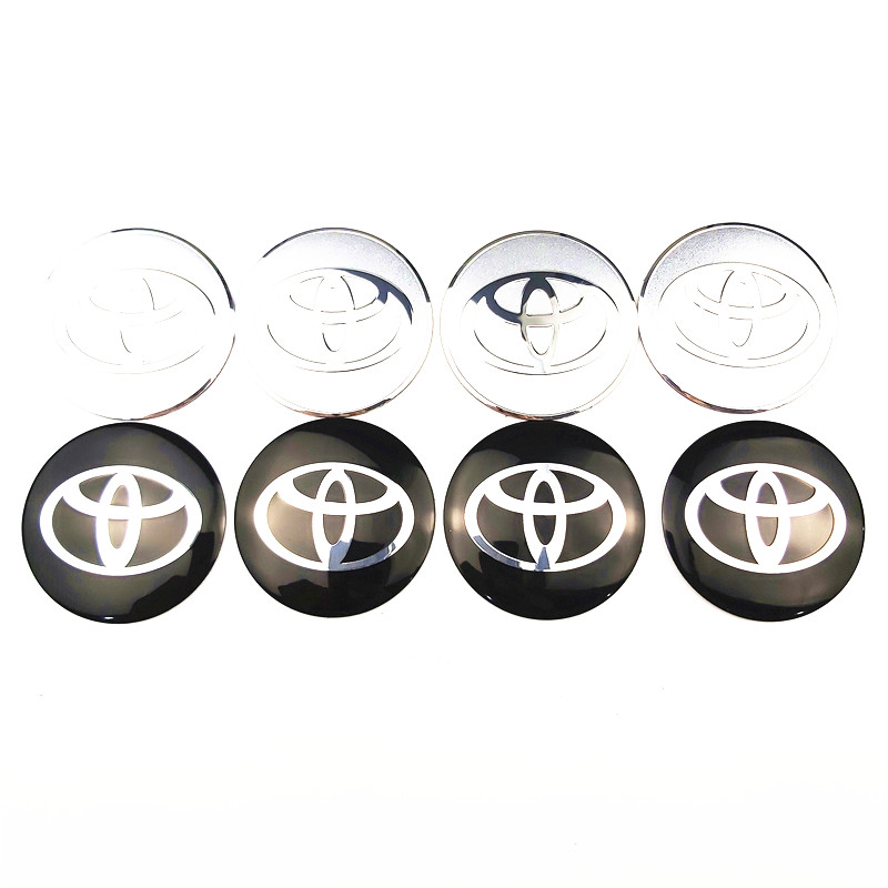 4Pcs Car Styling Steering Wheel Center Tire Dust Cover Sticker For Toyota Corolla Yaris Rav4 Auris Prius Prado Camry Reiz Venza