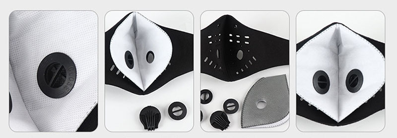 Pm2.5 Face Masks with extra Gaskets and Filters Accessories 16