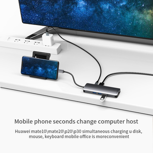 Image 4 - USB C HUB Type C to USB 3.0 HDMI RJ45 Adapter Dock for TF SD Reader Slot PD Laptop Docking Station USB Type C 3.1 Splitter Port
