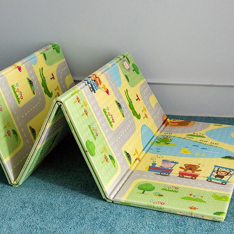 Tapis de route pour enfants pliable mousse bébé tapis de jeu Portable imperméable Pad ramper enfants épaissi tapis 180x200x1CM épissage