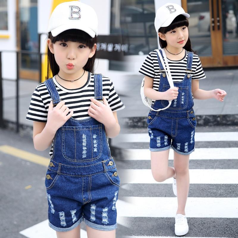 Girls Boutique Outfits 2019 New Brand Kids T Shirt + Jeans Dress Clothes Set Fashion Tracksuit