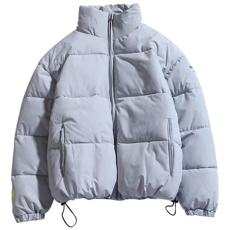 Fgkks 겨울 새로운 남자 솔리드 컬러 파커 품질 브랜드 남자 스탠드 칼라 따뜻한 두꺼운 재킷 남성 패션 캐주얼 파카 코트