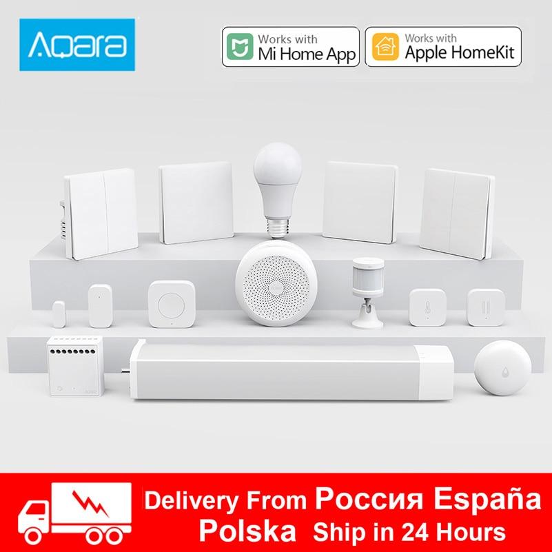 Aqara Smart Home Kits Gateway Hub 3 Camera Wall Wireless Switch Lamp Door Motion Temperature Sensor Relay Module For Mijia App