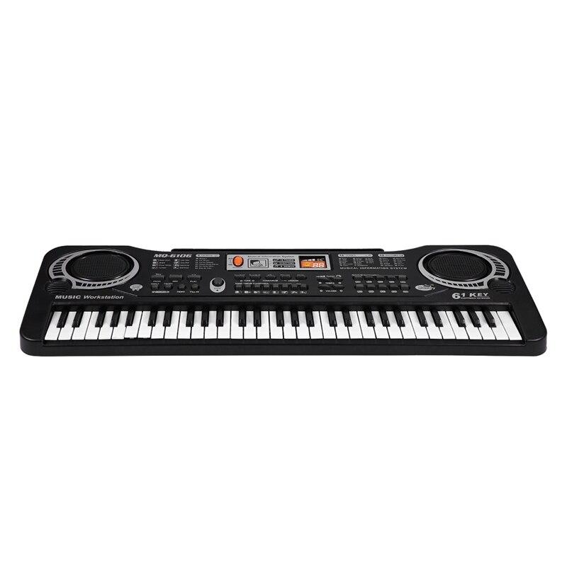 Teclas de Música Presente das Crianças Plugue da ue Digital Teclado Eletrônico Placa Chave Piano Elétrico mq 61 Mod. 312531