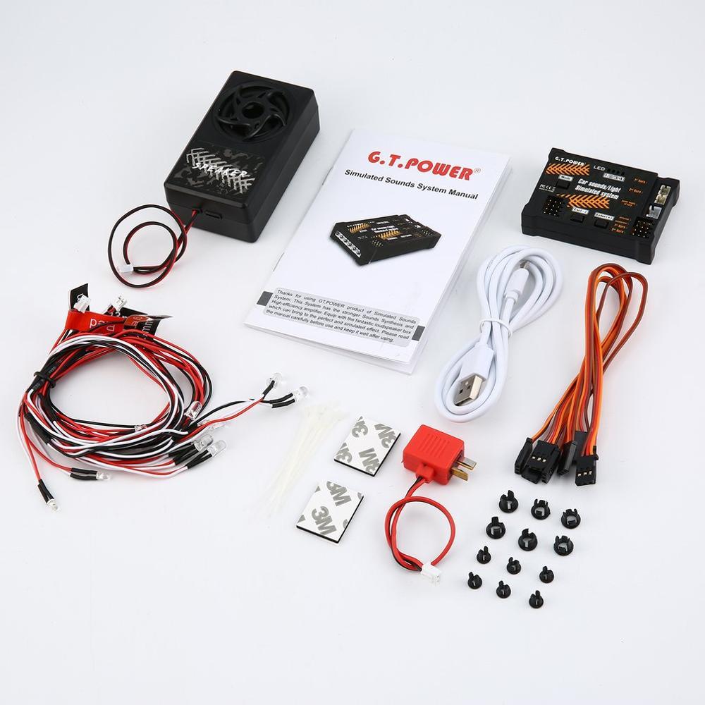 Module de jouet de voiture RC sons/lumière système simulé pour niveleuse escalade voiture SUV télécommande camion véhicule bricolage partie