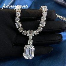 Женский кулон с изумрудом pansysen ожерелье из серебра 100%