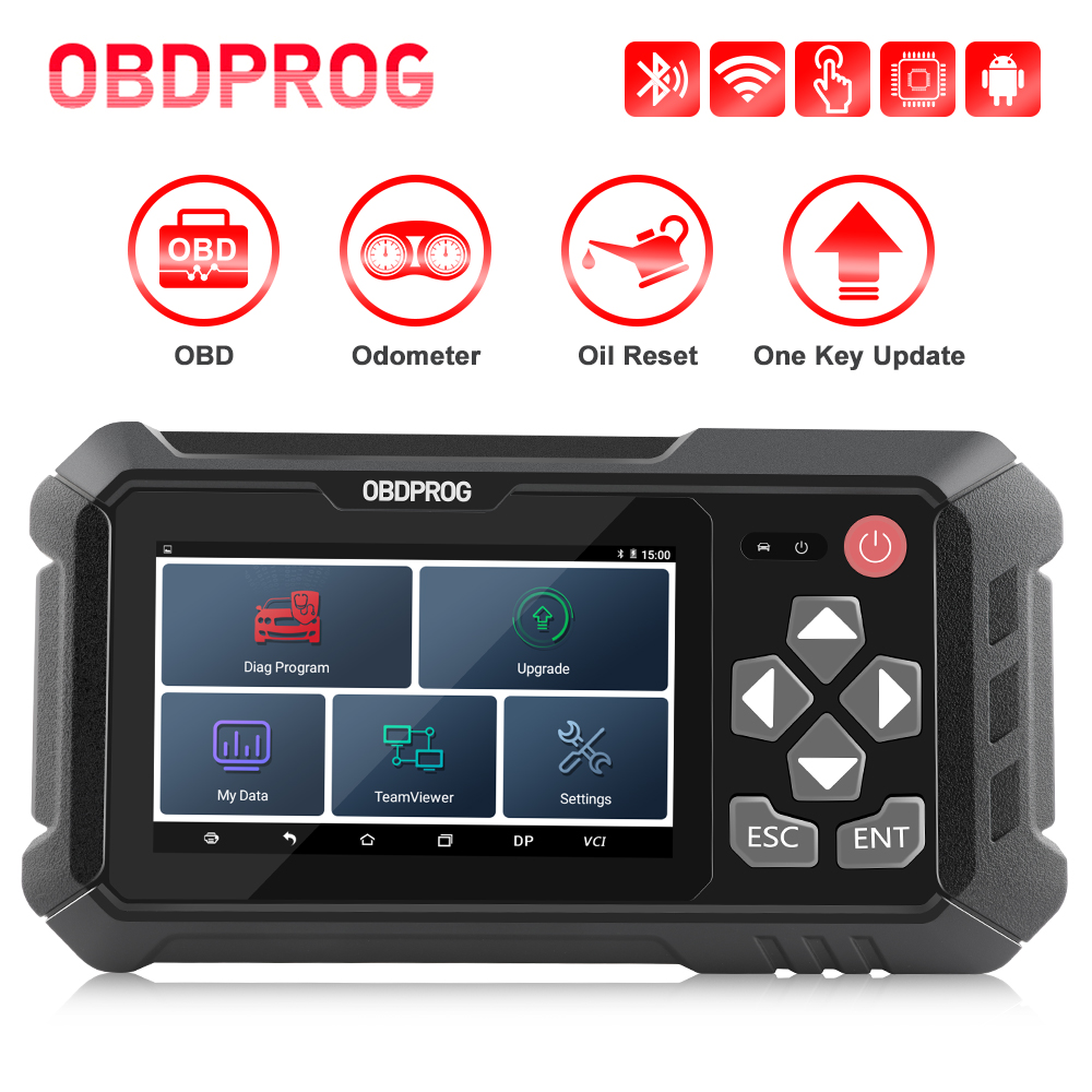OBDPROG M500 OBD2 сканер Профессиональный коррекция пробега на одометре регулировки масла пробег Сброс Инструмент Obd 2 Автомобильный диагностичес...