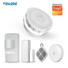 Towode Tuya APP casa multifuncional Gateway WiFi sistema de alarma inteligente luz de noche Bell sistema de Control