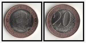Angola 20 Kwanzas Coins Edition Africa 100% Real Original Coin Collection Unc Collection New(China)
