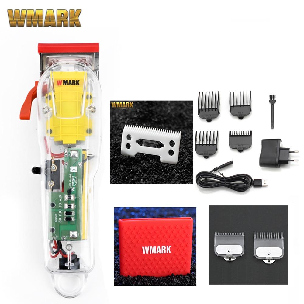 2020 WMARK новая модель NG-108 перезаряжаемая машина для резки машинка для стрижки шерсти у прозрачная крышка белого цвета или красной основой 7300 о...