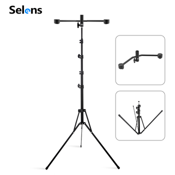 Selens Studio Adjustable Light Stand Tripod with Magnetic support bracket For Reflector Backdrop Video Photo Studio Youtube