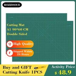 A1 90*60cm estera De Corte De costura doble cara placa diseño grabado Tapete De Corte tabla para cortar grande esteras hechas a mano herramientas