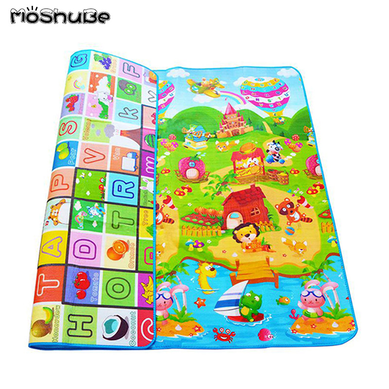 0.5cm Baby Play Mat Double-sided Children Puzzle Pad Crawling  Kids Rug Gym Soft Floor Game Carpet Toy Eva Foam Developing Mats