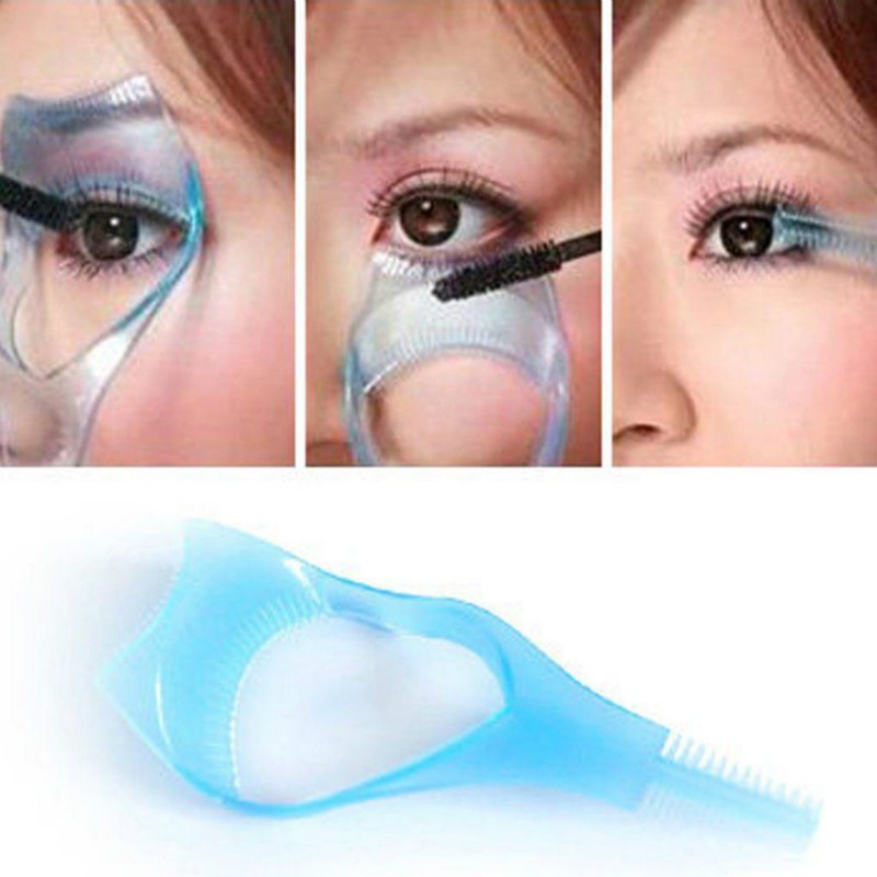 Eyelash Applicator Tool Practical Makeup Mascara Eyelash Applicator Eyelash Comb 3 In 1 Eyelash Card 3D Beauty Cleaning Supplies