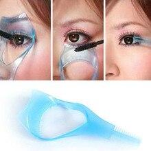 Eyelash Applicator Tool Practical Makeup Mascara Eyelash Applicator Eyelash Comb 3 In 1 Eyelash Card 3D Beauty Cleaning Supplies