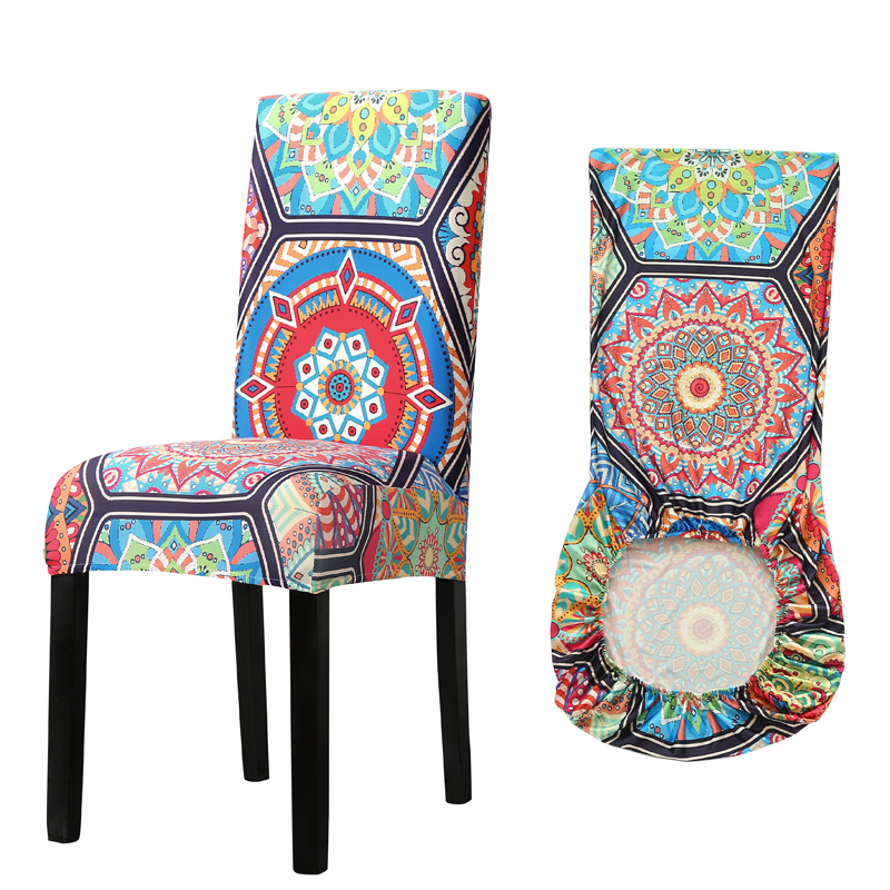 Elastic Printed Chair Cover 1