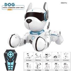 JXD A001 умный говорящий радиоуправляемый робот-робот для прогулок и танцев, интерактивный питомец, щенок, робот-собака, дистанционное Голосов...