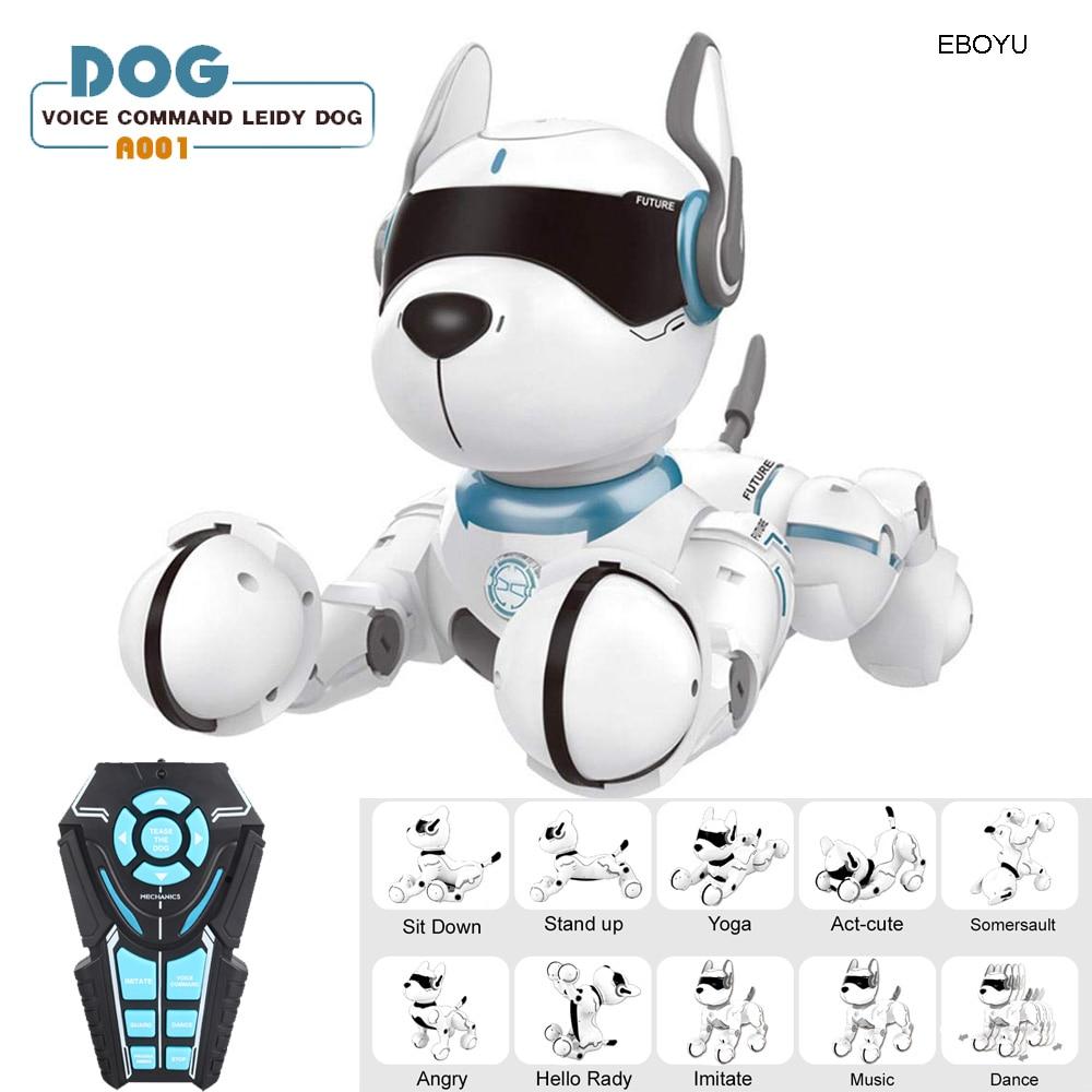 JXD A001 inteligente hablando RC perro Robot caminar Baile de la mascota perro Robot remoto Control de voz inteligente juguete para los niños