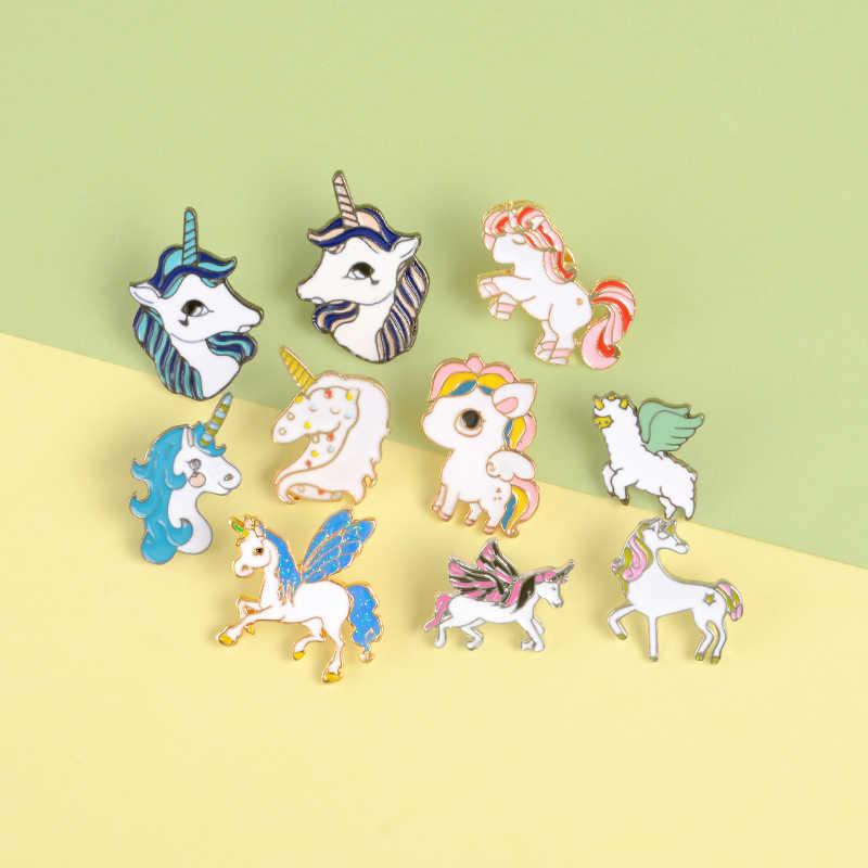 Eenhoorn Serie Reversspeldjes Kleurrijke Fantasy Broches Badges Rugzak Accessoires Emaille Pins Sieraden Geschenken Voor Kinderen Vrienden