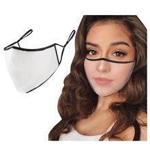 Novo adulto máscara transparente máscara facial boca caps reutilizável tecido lavável máscara boca protetor facial homem sólido mulher máscara mascarillas
