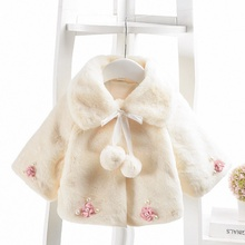 Infant Baby Girls Coat 0-3T Autumn Winter Warm Girl Clothes Cute Cloak Jacket Kids Flower Pattern Outerwear #m