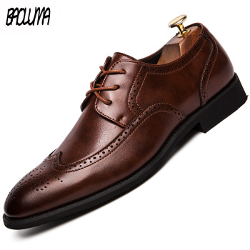 Classic Men Loafers Italy Designer Men Dress Shoes High Quality Leather Men Formal Business Brogue Shoes Soft Sole Driving Shoes
