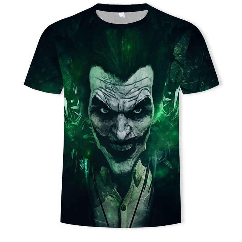 Clown koszulka męska czaszka Tshirt Hip Hop T shirt kwiat Streetwear Terror śmieszne koszulki z krótkim rękawem Anime ubrania fajne odzież męska 2019