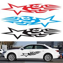 GISAEV Car Door Side Auto Boby Vinyl Flame Star Stickers Creative Car Styling Decals Pattern Flame Star Sticker Car Accessories 50cm skulls punisher pentacle five pointed star car stickers creative decoration decals for doors vinyls auto tuning styling d20