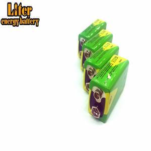 Image 2 - 1/2/4 adet yüksek kapasiteli 1200mah 9v Volt şarj edilebilir Ni mh piller 9 Volt Nimh aletleri duman alarmı pil paketi