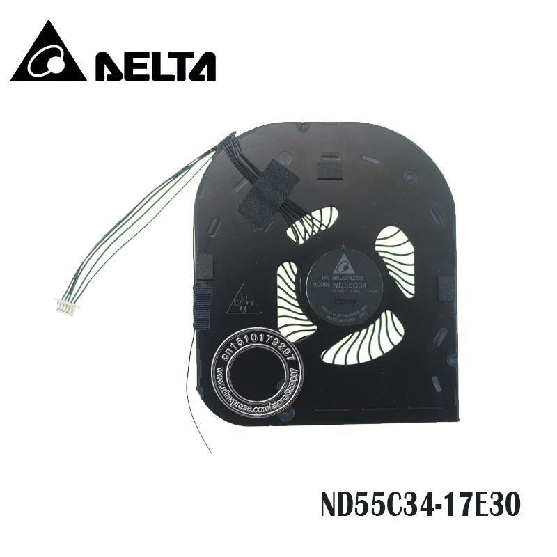 Laptop CPU Cooling Fan ND55C34 DC05V 0.45A -17E30 6PIN for Lenovo thinkpad X1 Carbon X1C 2017 2018 5th 00UR984 image