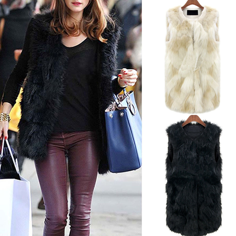 Spring Faux Fur Coat Vest Casual Warm Winter Jacket Slim futerko Soft fur Jacket casaco feminin Gilet Shrug Coat Outwear Z0823