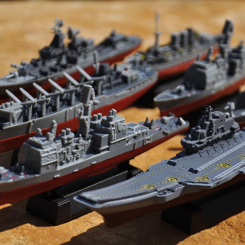 Ensemble de 8 pièces à assembler 4D croiseur militaire à assembler, destructeur, Kit de construction sous-marin nucléaire, jouets Puzzle pour enfants garçons