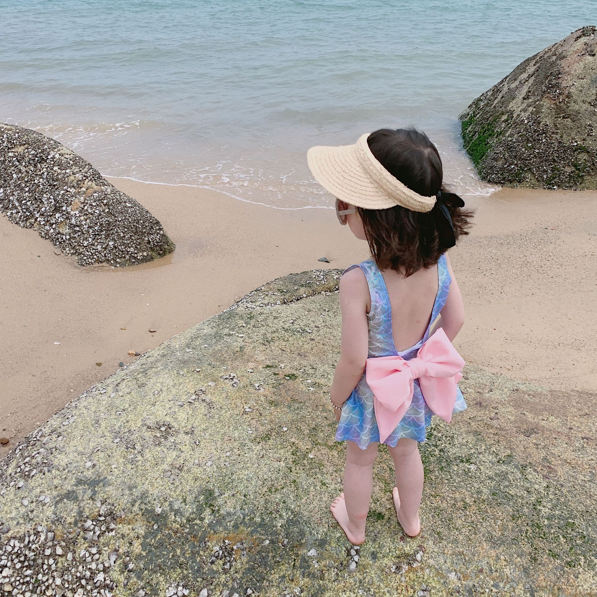 Mermaid Swimsuit Children Mermaid Tail One-piece Swimming Suit Mermaid Butterfly Bowknot With Skirt GIRL'S Swimsuit