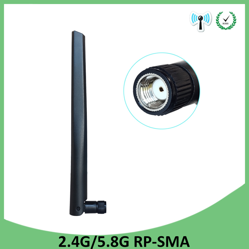 2.4GHz 5GHz 5.8Ghz Antenna Real 5dBi RP-SMA Connector Cellular Booster Dual Band Wifi Antena Aerial SMA Female Wireless Router
