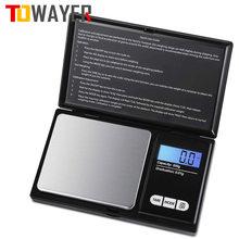 Mini escala eletrônica de aço inoxidável escala de bolso digital de ouro grama balança de peso balança de bolso portátil