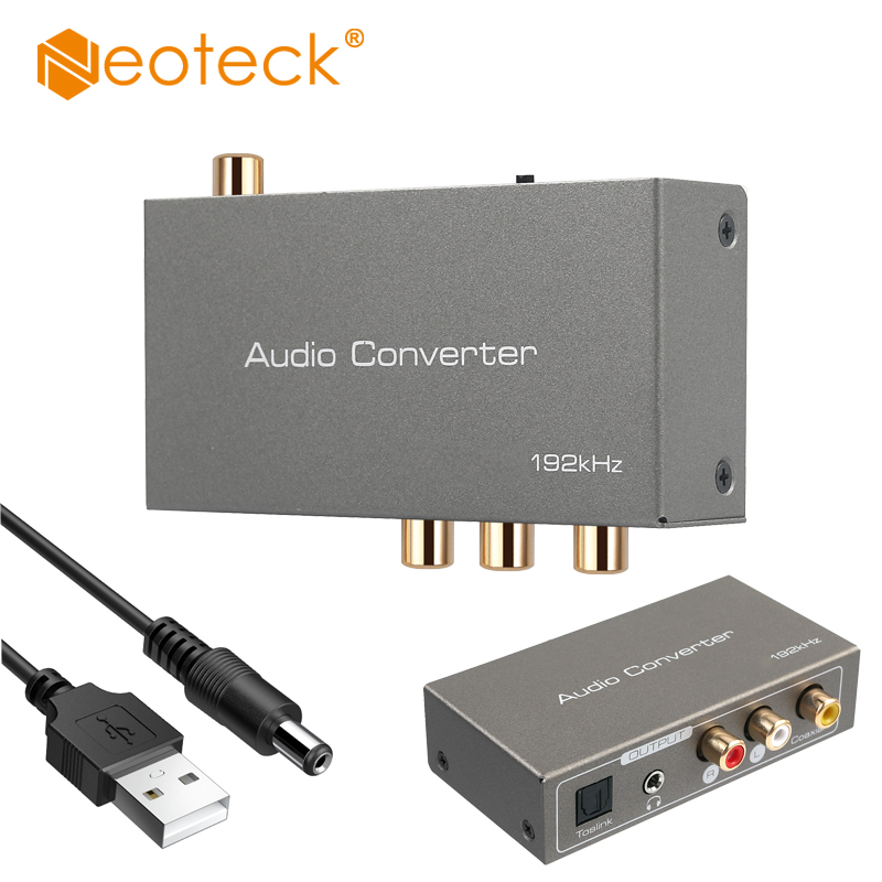 Neoteck DAC Digital To Analog Audio Converter HDMI ARC Audio Extractor Adapter Coaxial Toslink Optical To RCA 3.5mm Jack Switch