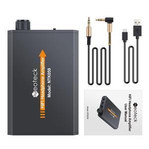 Image 4 - PROZOR المحمولة مضخم ضوت سماعات الأذن HiFi سماعة مضخم الصوت USB Rechargeble 3.5 مللي متر ل AUX المدخلات إخراج سماعة رأس صغيرة أمبير