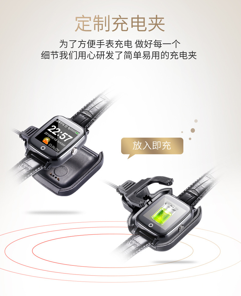 Elderly Smart Bracelet Watch Men Women GPS Wifi ECG Heart Rate Alarm Clock Pedometer Blood Pressure Phone Call Smartwatch (1)