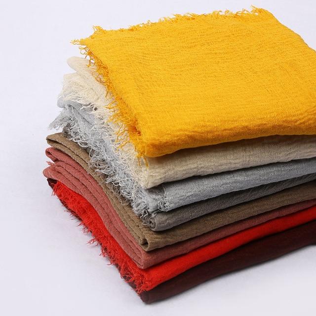 Bufanda de algodón para mujer, hiyab islámico, 10 unidades/lote, precio al por mayor