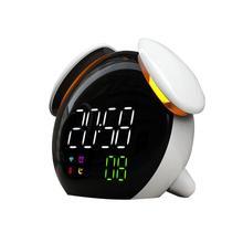 Погодный индикатор, лампа, маленький будильник, Интеллектуальный индукционный разноцветный гриб, Забавный будильник, часы светодиод цифровой часы