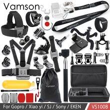 Набор аксессуаров для экшн камеры Vamson VS100, комплект аксессуаров для Gopro hero 8, 7, 6, 5, SJCAM M10, SJ5000 case, EKEN SOOCOO, yi 4k